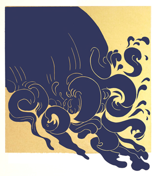 Barbara Milman artwork Tsunami  for January 15 e-Newsletter