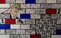 Gutfreund_Build the Wall_mixed media on canvas_30 x 48_2016_1